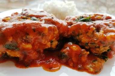 Croquettes de poisson à la sauce tomate