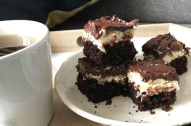 Carrés au chocolat et noix de coco