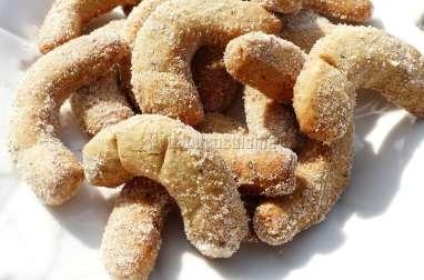 """Croissants de lune, vanille, amande, noisette, façon """"vanillekipferl"""""""