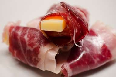Abricot et comté enrobé de jambon Bellota