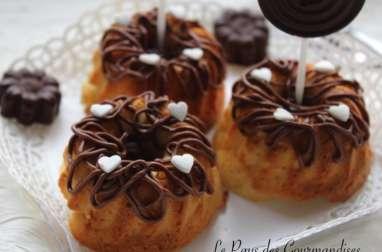 Nids moelleux à la noix de coco, coeur fondant au chocolat