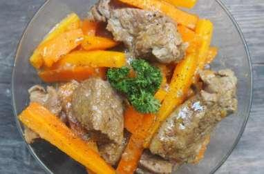 Sauté de veau aux carottes.