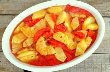 Gratin de pomelos et ananas au gingembre
