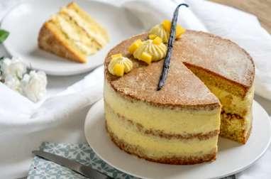 Layer cake vanille et mangue