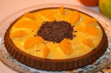 Tarte génoise chocolat orange-bergamote
