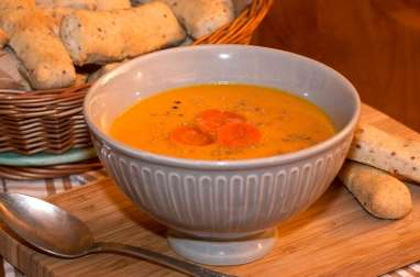 Velouté de carottes au gingembre et coco