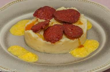 Palet de panais au chorizo, sauce à l'orange