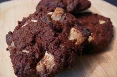 Cookies chocolat noir et chocolat amande