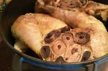 Poulet à l'ail rôti