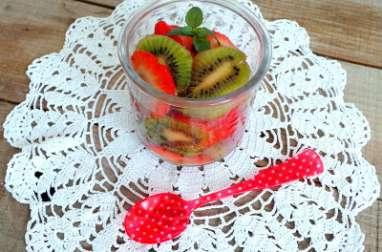 Salade de kiwis et fraises au sirop d'érable