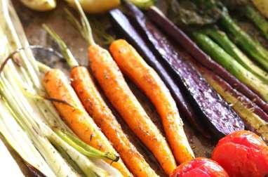 Légumes de printemps rôtis