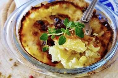 Gratin de pomme de terre au fromage de Cîteaux et son cocktail de 3 baies au curry doux