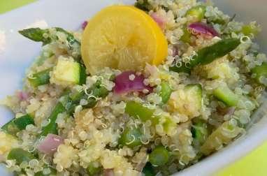 taboulé de quinoa aux asperges et au citron confit