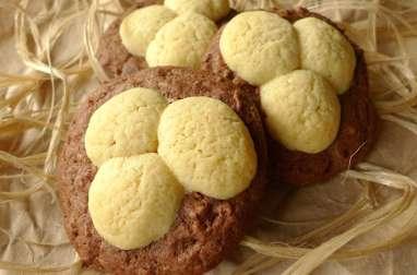 Biscuits nids de Pâques chocolat vanille