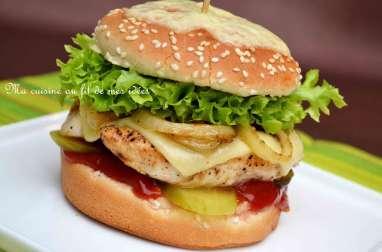 Burger au poulet et fromage Leerdammer
