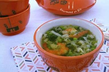 Soupe aux vermicelles et aux crevettes