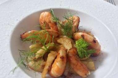 Crevettes et fenouil au paprika