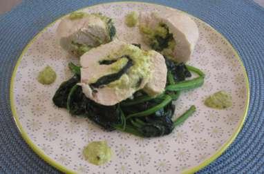 Ballottines de poulet pistaches-ricotta