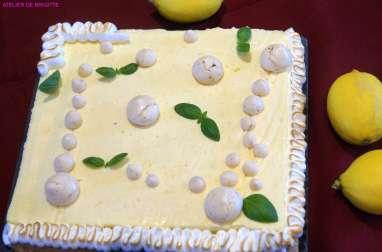 Tarte citron noisettes meringuée