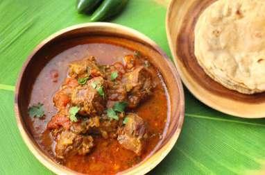 Curry de joues de porc comme à Goa