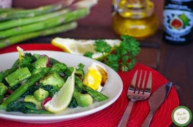 Salade d'asperges et avocat