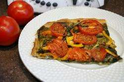Tarte tomates épinards au thermomix facile et rapide