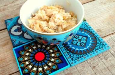 Riz poêlé aux oignons et au poulet