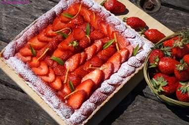 Fraises et verveine-citron ....un amour de tarte