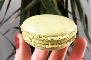 Macarons pistache de Christophe Felder
