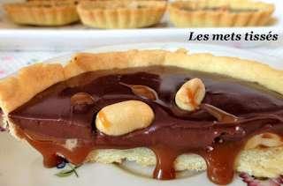 Tartelettes chocolat caramel et cacahuètes