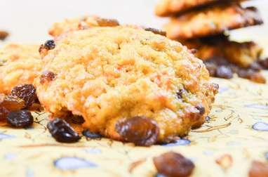 Cookies aux carottes et raisins secs