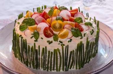 Sandwich cake ou Smörgåstårta suédois