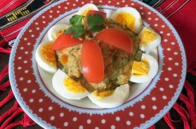 Le kiopoolu ou pâté d'aubergines et de poivrons bulgare