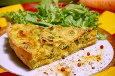 Tarte croquante et fondante aux 3 légumes