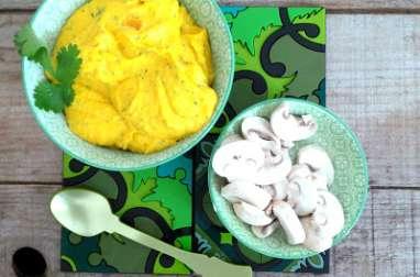 Sauce dip carottes, fromage frais et coriandre