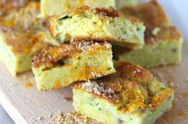 Gâteau de courgette - curcuma et noisettes