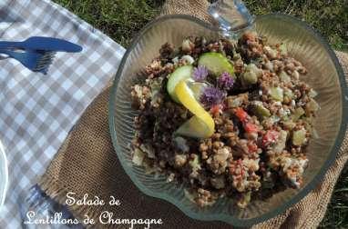 Salade de lentillons de champagne