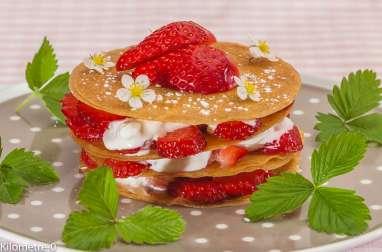 Millefeuille facile aux fraises