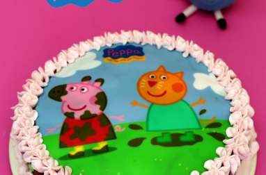 Gâteau d'anniversaire au chocolat Peppa Pig