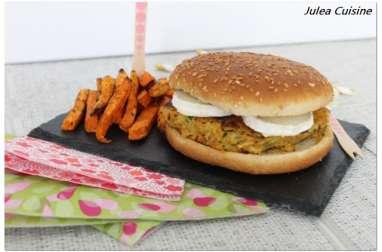 Burger pomme de terre carotte courgette au chèvre