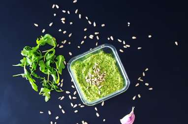 Pesto de roquette et graines de tournesol