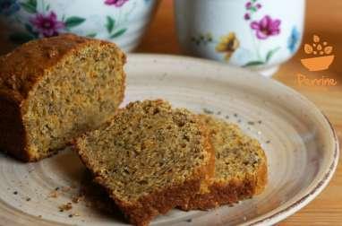 Gâteau moelleux aux amandes, carotte et épices sans œuf, sans beurre