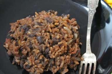 Riz aux haricots noirs à la cubaine