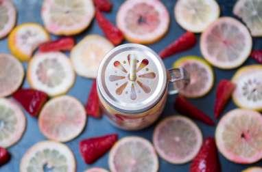 Eau aromatisée fraise-citrons