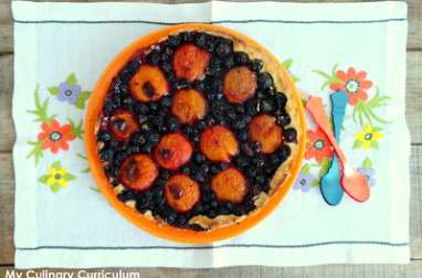 Tarte abricots et myrtilles