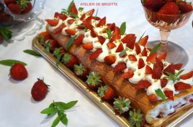 Roll Cake Verveine, Citron et Fraises