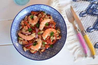 Salade de haricots blancs à l'espagnole