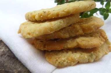 Biscuits salés au thym citron et au parmesan