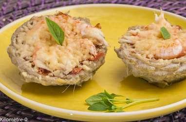 Artichauts aux langoustines et parmesan