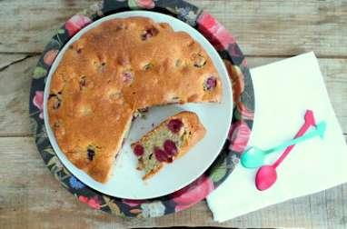 Gâteau cerises pistaches